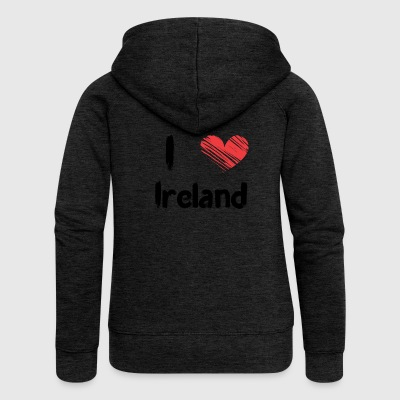 I love Ireland - Women's Premium Hooded Jacket