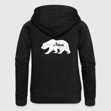 Gifts for Mum. Love Camping Bear Wildlife Gifts - Women's Premium Hooded Jacket