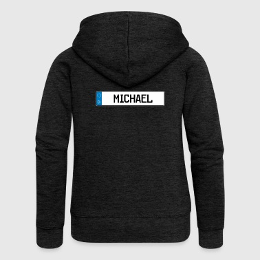 Michadel name tag gift - Women's Premium Hooded Jacket