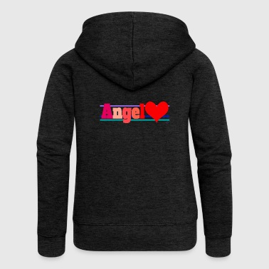 Angel and heart - Women's Premium Hooded Jacket