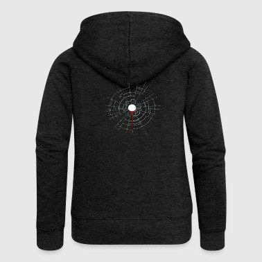 Bullet hole. Cool. Gift. Funny. - Women's Premium Hooded Jacket