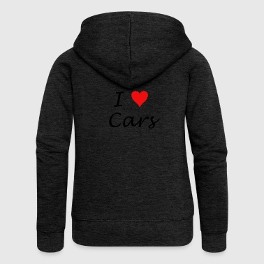 I Love Cars - Women's Premium Hooded Jacket