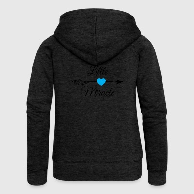Little miracle Blue Heart.Baby Gifts. New Baby. - Women's Premium Hooded Jacket