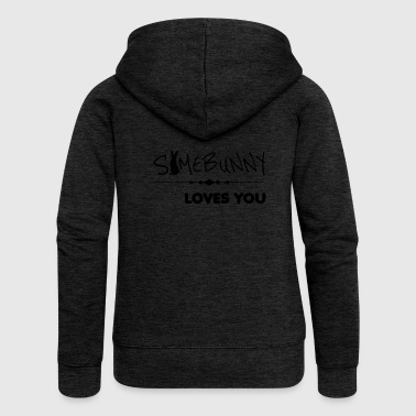 somebunny loves you loves you - Women's Premium Hooded Jacket