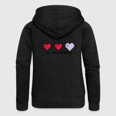 Hearts in progress - Women's Premium Hooded Jacket