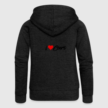 I love cars / I love cars / cars - Women's Premium Hooded Jacket