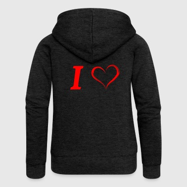 I love I love in Love - Women's Premium Hooded Jacket
