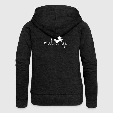 Horse - Heartbeat - Women's Premium Hooded Jacket