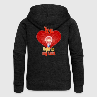 You light up my heart - By FEDVAL - Women's Premium Hooded Jacket