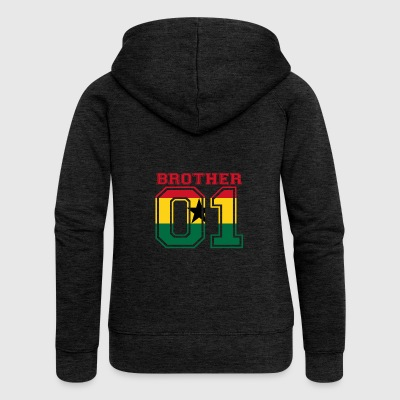 brother brother 01 king Ghana - Women's Premium Hooded Jacket