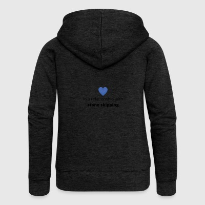 Gift single taken relationship with stone skipping - Women's Premium Hooded Jacket