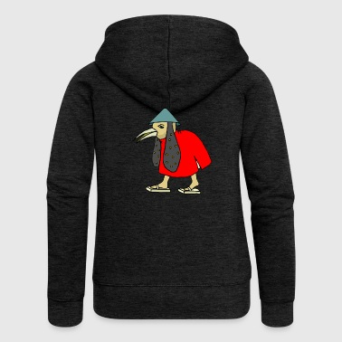 Asian birdman cartoon asian funny gift - Women's Premium Hooded Jacket