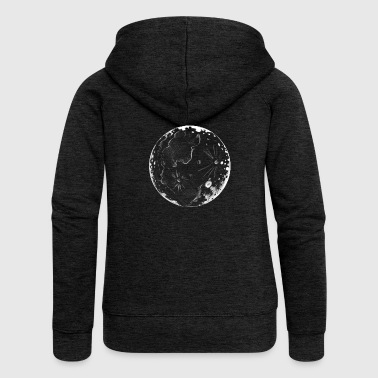 Moon illustration - Women's Premium Hooded Jacket