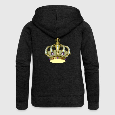 crown crown koenig king castle castle tower burg2 - Women's Premium Hooded Jacket
