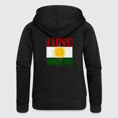 I Love Kurdistan - Women's Premium Hooded Jacket