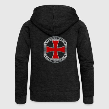 Templar Cross, Vox in Excelso - Women's Premium Hooded Jacket