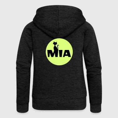 Mia Name First name - Women's Premium Hooded Jacket