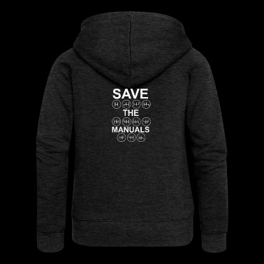 Car Shirt for Manual lovers and Petrolheads - Women's Premium Hooded Jacket
