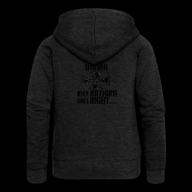 If everything goes wrong iron cross iron cross - Women's Premium Hooded Jacket