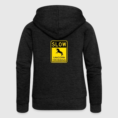 SLOW DOWN ! Unicorn passage - Women's Premium Hooded Jacket