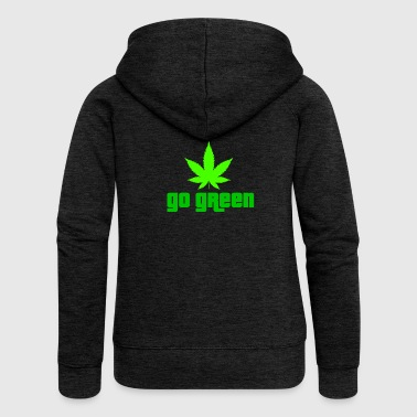 Ganja grass weed marijuana 420 smoke bong kiffen ne - Women's Premium Hooded Jacket