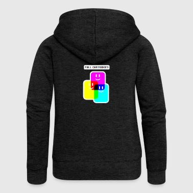 CMYK Full Cartridges - Women's Premium Hooded Jacket