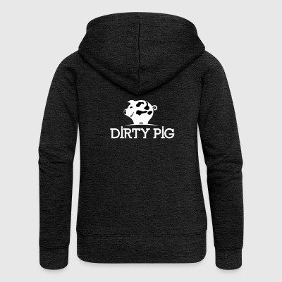 DIRTY_PIG_White - Frauen Premium Kapuzenjacke