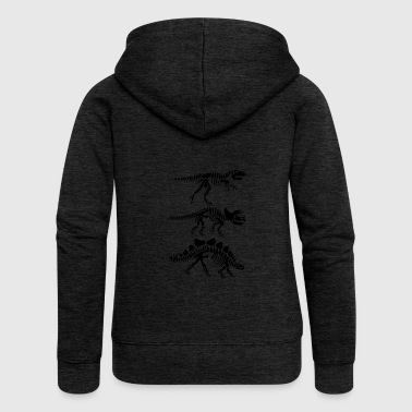 Dinosaur skeleton anatomy - Women's Premium Hooded Jacket