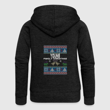 Ugly Young Christmas Family Vacation Tshirt - Women's Premium Hooded Jacket