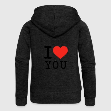 I love I love U - Women's Premium Hooded Jacket