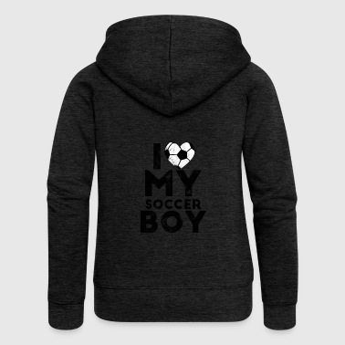 Football MOM - Football Tee Shirt Gift - Women's Premium Hooded Jacket
