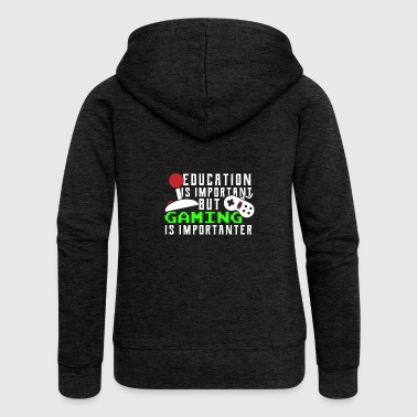Funny Kids Gaming Joke Wear - Frauen Premium Kapuzenjacke