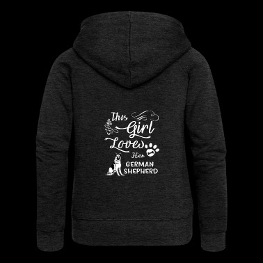 This Girl Loves Her German Shepherd Tee Shirts Gift - Women's Premium Hooded Jacket