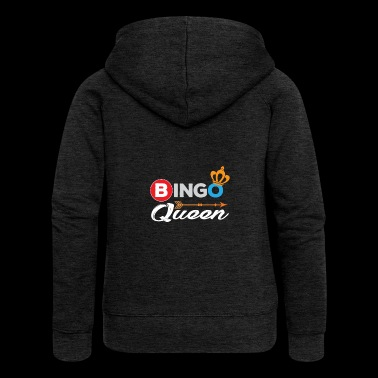 Bingo Shirt Bingo Queen Bingo Player Gift - Women's Premium Hooded Jacket