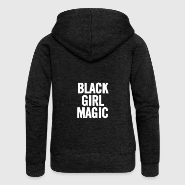 Black Girl Magic 2 White - Women's Premium Hooded Jacket
