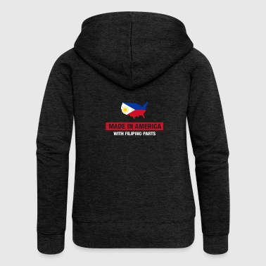 Made In America With Filipino Parts Philippines - Women's Premium Hooded Jacket