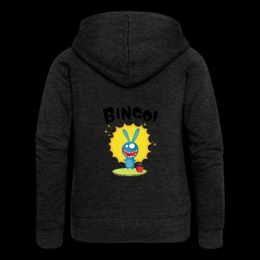 BINGO - funny bunny is planning a bomb blast - Women's Premium Hooded Jacket