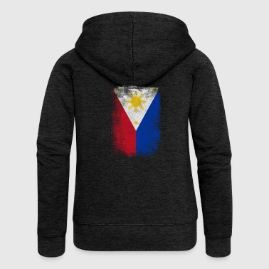 Philippines Filipino Flag Proud Vintage Distressed - Women's Premium Hooded Jacket
