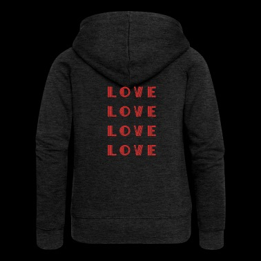 Love Love Love Love Shirt Gift Idea - Women's Premium Hooded Jacket