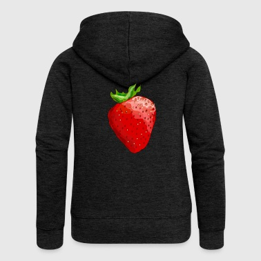 strawberry - Women's Premium Hooded Jacket