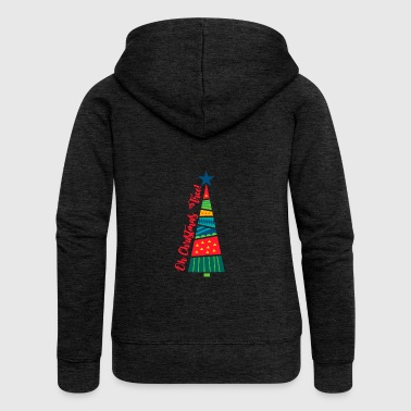 Oh Christmas Tree. Secret Santa Gifts. Tree & Star - Women's Premium Hooded Jacket