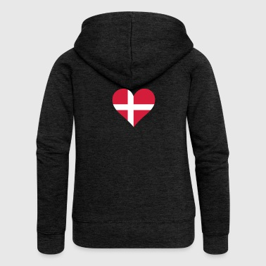 A Heart For Denmark - Women's Premium Hooded Jacket