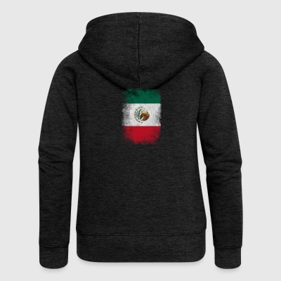Mexiko-Flagge Proud Mexican Vintage Distressed - Frauen Premium Kapuzenjacke
