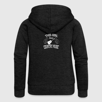 This girl loves country music - Women's Premium Hooded Jacket