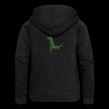 Skat'n T-Rex - Women's Premium Hooded Jacket