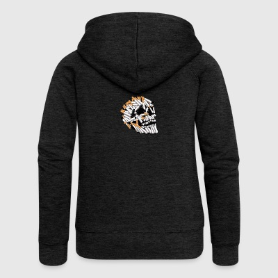 skull and cigarette, skull - Women's Premium Hooded Jacket