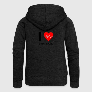 I Love Strasbourg - I love Strasbourg - Women's Premium Hooded Jacket