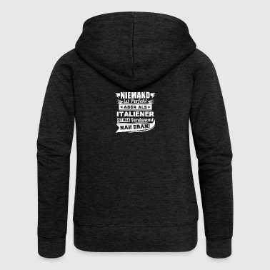 Nobody's perfect - Italian T-Shirt - Women's Premium Hooded Jacket