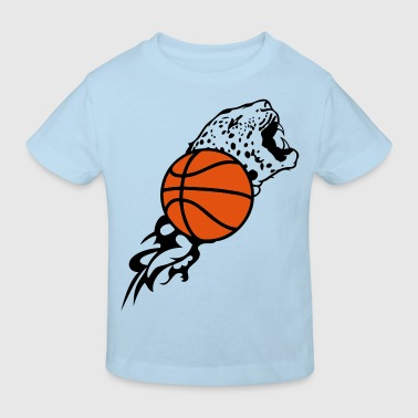 ballon basketball tigre flamme1 - T-shirt bio Enfant
