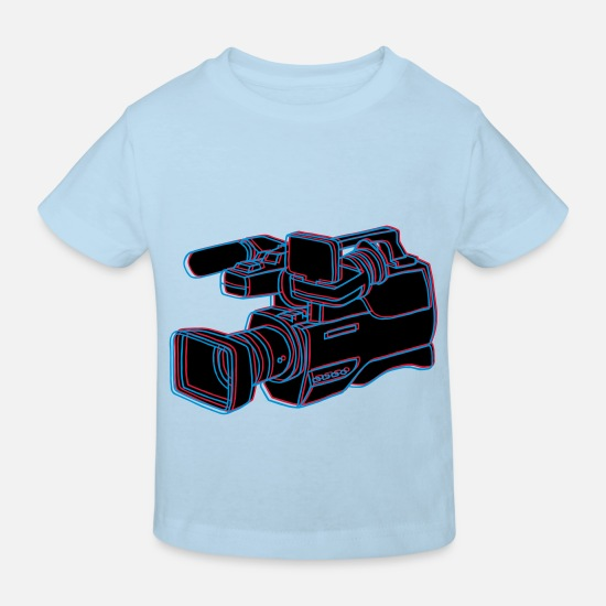 Tv Baby Clothes - Video Kamera - Kids' Organic T-Shirt light blue